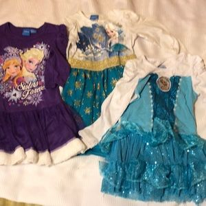 3 Disney Frozen dresses